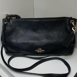 Coach black crossbody purse